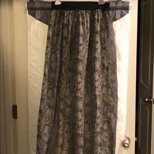 Dresses & Skirts - Snake print maxi skirt